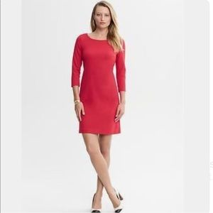 Banana Republic Red 3/4 Sleeve Knit Dress Size 12